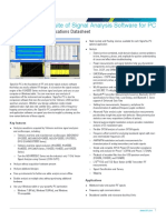 SignalVu PC Vector Signal Analysis Software Datasheet 37W2797312