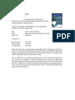 Journal of Global Antimicrobial Resistance Volume Issue 2017 [Doi 10.1016%2Fj.jgar.2017.10.002] Ma, Yanning; Bao, Chunmei; Liu, Jie; Hao, Xiuhong; Cao, Jingui; -- Microbiological Characterization of K