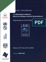 ILSI Mexico La Obesidad en Mexico