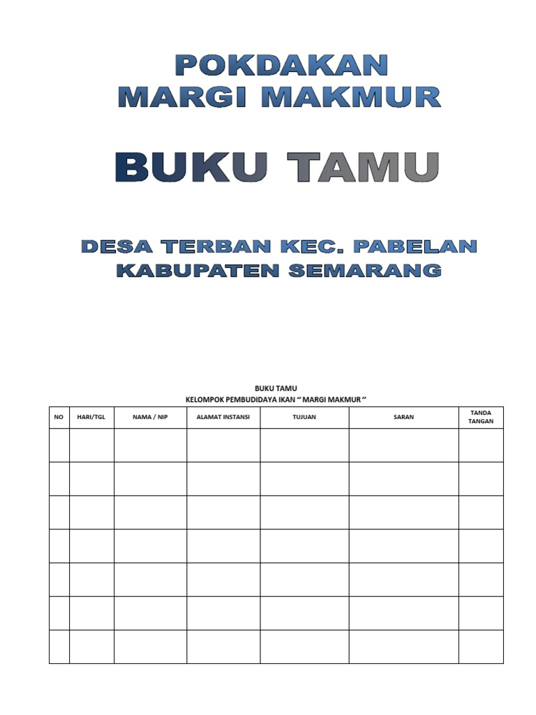 Buku Tamu Margi Makmur