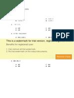 SJKC Math Standard 2 Chapter 1 Exercise 1