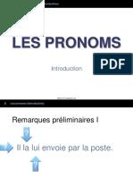 1 Les Pronoms Personnels Intro