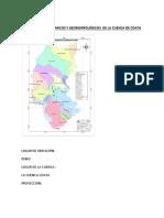 Para Metos Fisiograficos y Geomorfológicos de La Cuenca de Coataa