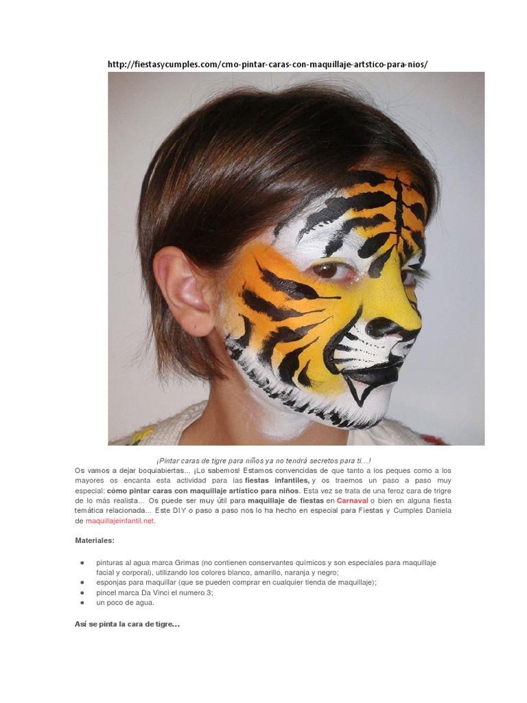 Maquillaje Guia De Maquillaje Infantil