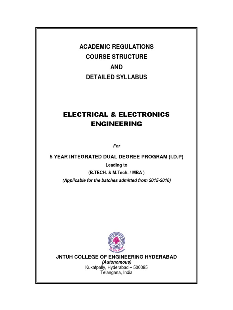 Eee Idp 2015 16pdf Thesis Master Of Business Administration Electronic Circuits By Salivahanan Pdf