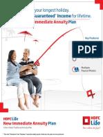 HDFC Life New Immediate Annuity Plan