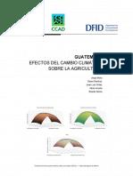 Efectos Del Cambio Climatico en Agricultura de Guatemala