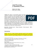 Effects of Thermal Processing on Closed-Cell Aluminium Foams