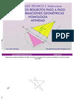 Ejercicios Resueltos Transformaciones Geométricas Homología y Afinidad
