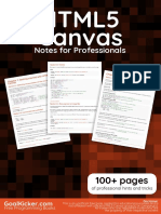HTML 5 Canvas Notes for Professionals