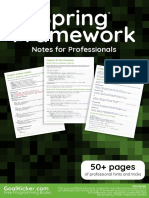 Spring Framework Notes for Professionals