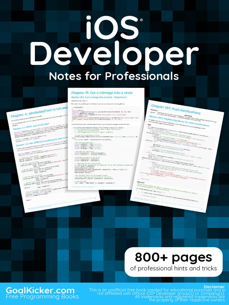 iOS Notes for Professionals | Swift (Programming Language