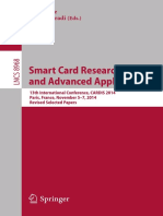 Smart Card Research and Advanced Applications 13th International Conference