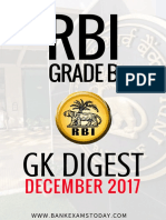 Rbi Grade b December 2017 by BankExamsToday