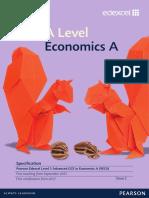 Edexcel a-level Economics SPECIFICATION