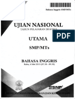 Soal UN Bahasa Inggris SMP 2015 Paket 1.pdf
