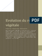 Evolution Du Règne Végétale