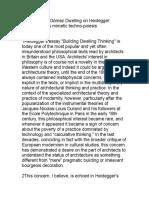 Alberto Pérez-Gómez Dwelling on Heidegger Architecture as Mimetic Techno-poiesis
