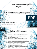 MIS For Marketing Management