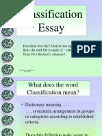 C Classification