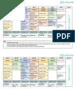 PTE - 4 Week Study Schedule