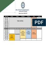 Schedule of Class MA
