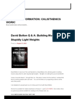 Light Dumbells - David Bolton Interview Part I