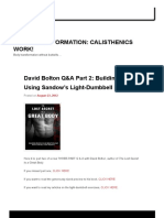 Light Dumbells - David Bolton Interview Part II