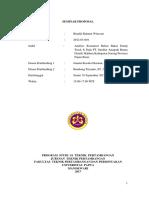Proposal Skripsi Bahan bakar