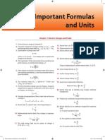 Important Formulae & Units
