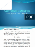 Absorption & Stripping Efficiency Evaluation
