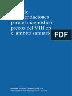 Guía de Recomendaciones Para El Diagnóstico Precoz Del VIH en El Ámbito Sanitario