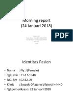 Morning Report Klp 8 - 24 Januari 2018