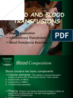 Blood Transfusion and Blood Components Therapy
