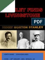 STANLEY FINDS LIVINGSTONE PPT