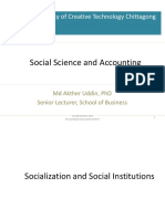 Lecture 3 Socialization and Social Institutions