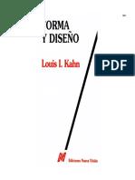 KAHN, Louis I. - Forma y Diseño.pdf