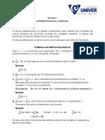 Lectura 001 - Calculo Diferencial