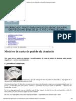 Modelos de Carta de Pedido de Demissão _ Emprego & Negócio
