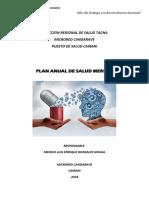 Plan Anual de Salud Mental 2018