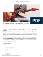Surfing With the Alien Lesson