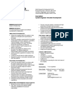 Job Description System Engineer Simulators