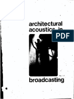 LEGAULT. Architectural Acoustics in Broadcasting