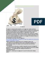 Concepto y Clasificación de Salario