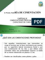 Capítulo 8 - Cimentaciones Profundas - Capacidad de Carga