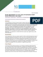 Journal Mechanical Bowel Obstruction