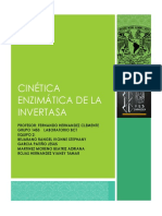 Cinetica Enzimatica de La Invertasa Final
