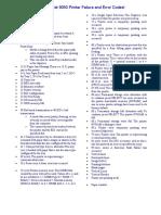 HP LaserJet 9050 Printer Failure and Error Codes