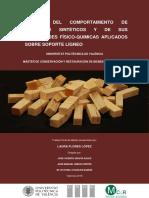 FLORES - Estudio  del comportamiento de adhesivos sintéticos y de sus propiedades físico-químicas...