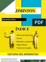 Badminton Educación Física